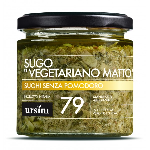 "Ursini - Sugo ""Vegetariano Matto"" - 79 - I Senza Pomodoro - Sughi - Olio Extravergine di Oliva Italiano"