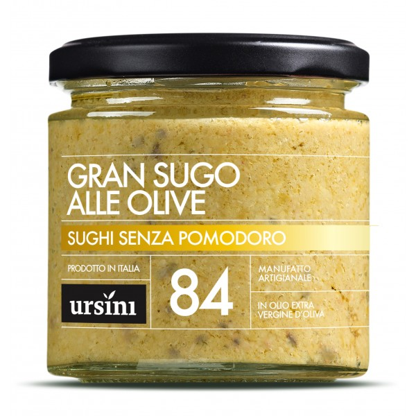 Ursini - Great Sauce with Olives - 84 - Without Tomatoes - Sauces - Organic Italian Extra Virgin Olive Oil