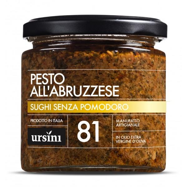 Ursini - Pesto all'Abbruzzese - 81 - I Senza Pomodoro - Sughi - Olio Extravergine di Oliva Italiano
