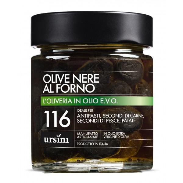 Ursini - Olive Nere al Forno - 116 - In Olio Extravergine - Oliveria - Olio Extravergine di Oliva Italiano