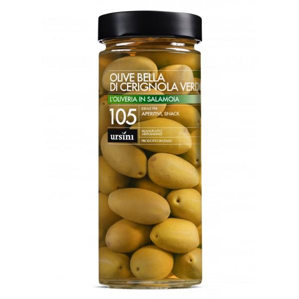 Ursini - Olive Bella di Cerignola Verdi - 105 - In Salamoia - Oliveria - Olive Italiane