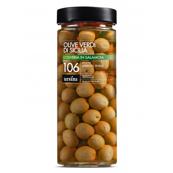Ursini - Olive Verdi di Sicilia - 106 - In Salamoia - Oliveria - Olive Italiane