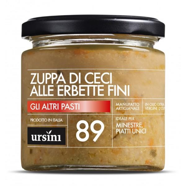 Ursini - Zuppa di Ceci alle Erbette Fini - 89 - Altri Pasti - Olio Extravergine di Oliva Italiano