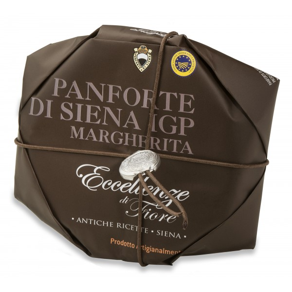 Fiore - Panforte of Siena since 1827 - Panforte of Siena I.G.P. Margherita - Excellences of Fiore - Hand Wrapped - 227 g