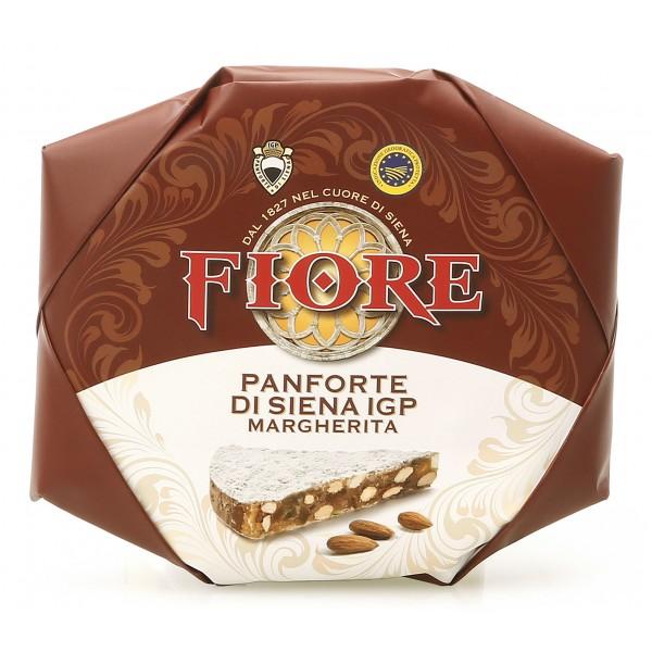 Fiore - Panforte di Siena dal 1827 - Panforte di Siena I.G.P. Margherita - Panforte - Incartato a Mano - 227 g