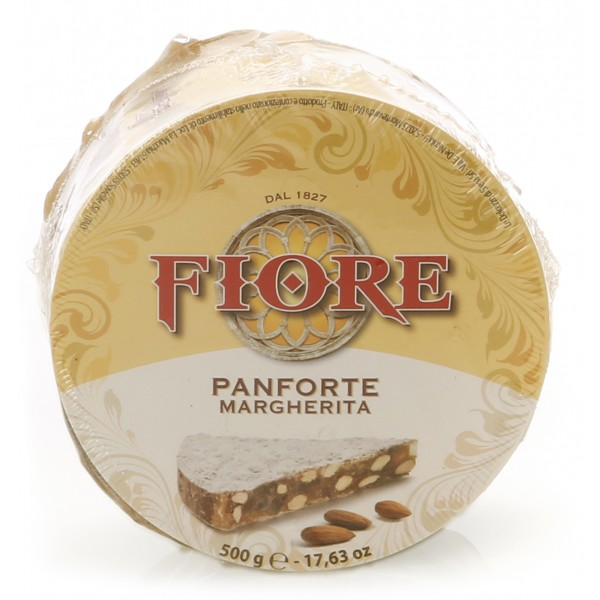 Fiore - Panforte of Siena since 1827 - Traditional Panforte Margherita - Panforte - Gigantino Cellophane Box - 500 g
