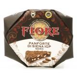 Fiore - Panforte di Siena dal 1827 - Panforte di Siena I.G.P. Nero - Panforte - Incartato a Mano - 100 g