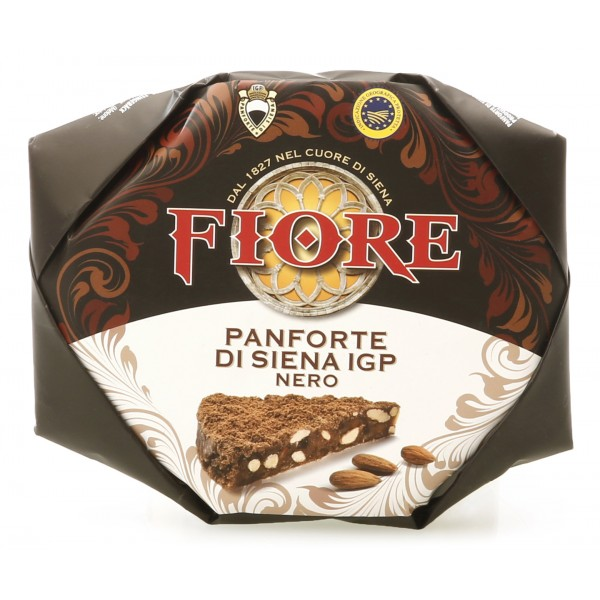 Fiore - Panforte of Siena since 1827 - Panforte of Siena I.G.P. Black - Panforte - Hand Wrapped - 227 g