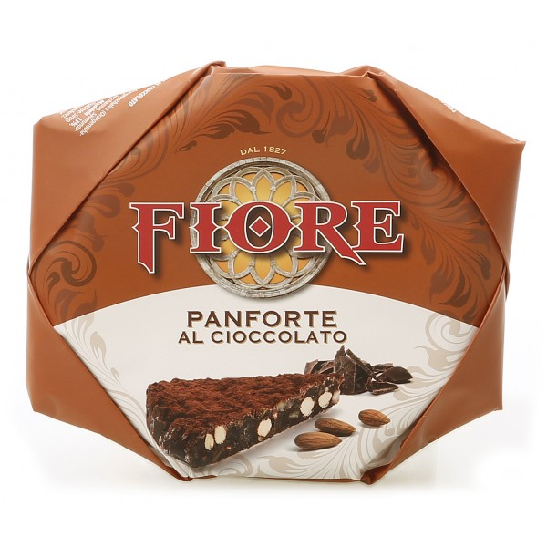 Fiore - Panforte di Siena dal 1827 - Panforte di Siena al Cioccolato - Panforte - Incartato a Mano - 100 g