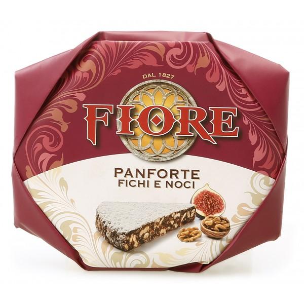 Fiore - Panforte di Siena dal 1827 - Panforte di Siena Fichi e Noci - Panforte - Incartato a Mano - 227 g