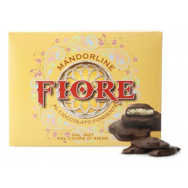 Fiore - Panforte di Siena dal 1827 - Mandorline di Primavera di Siena al Cioccolato Fondente - Pasticceria - Confezione - 145 g