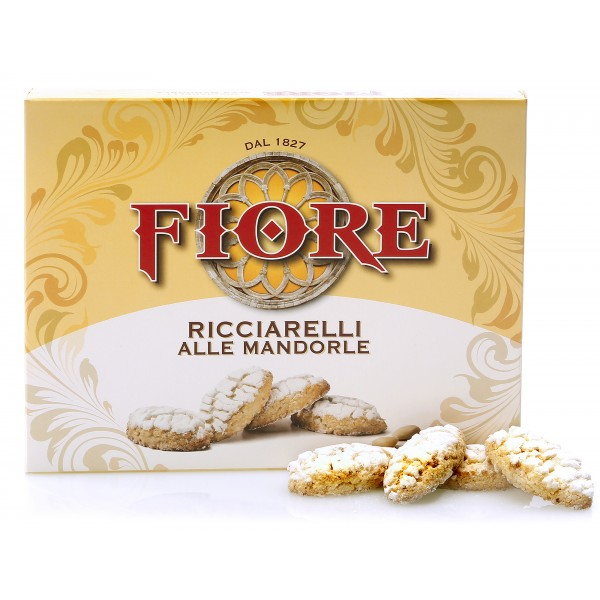 Fiore - Panforte di Siena dal 1827 - Ricciarelli di Siena Tradizionali alle Mandorle - Pasticceria - Confezione - 72 g