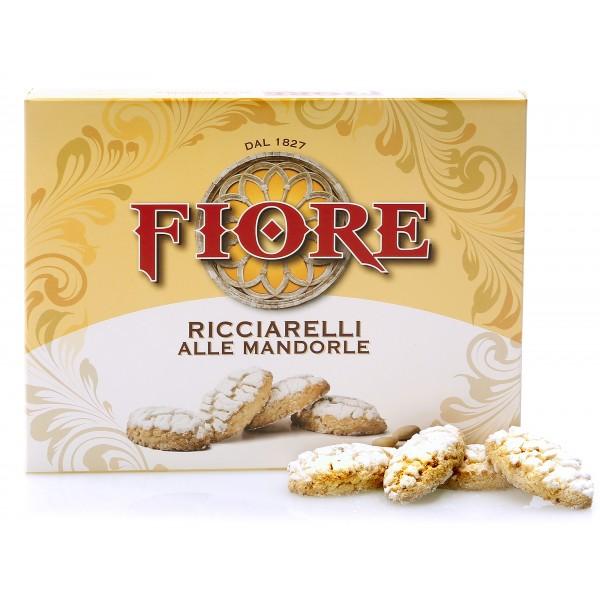 Fiore - Panforte di Siena dal 1827 - Ricciarelli di Siena Tradizionali alle Mandorle - Pasticceria - Confezione - 145 g