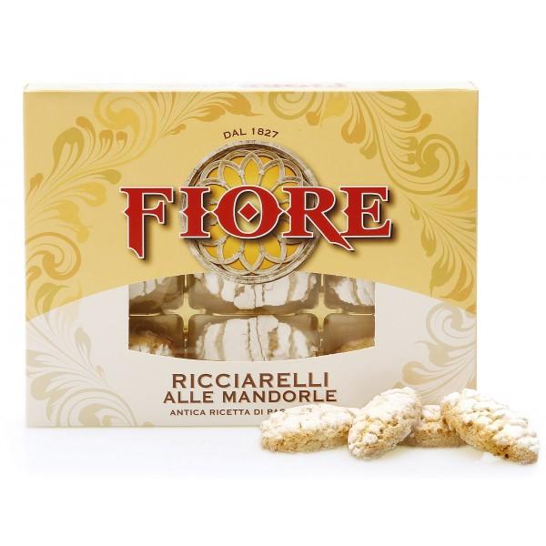 Fiore - Panforte di Siena dal 1827 - Ricciarelli di Siena Glassati alle Mandorle - Pasticceria - Confezione - 225 g
