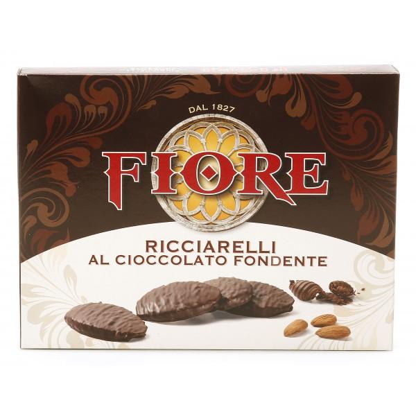 Fiore - Panforte di Siena dal 1827 - Ricciarelli di Siena al Cioccolato Fondente - Pasticceria - Confezione - 145 g