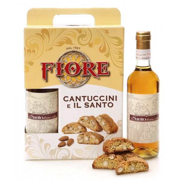 Fiore - Panforte di Siena dal 1827 - Cantuccini Toscani Tradizionali e Il Santo - Pasticceria - Confezione Regalo