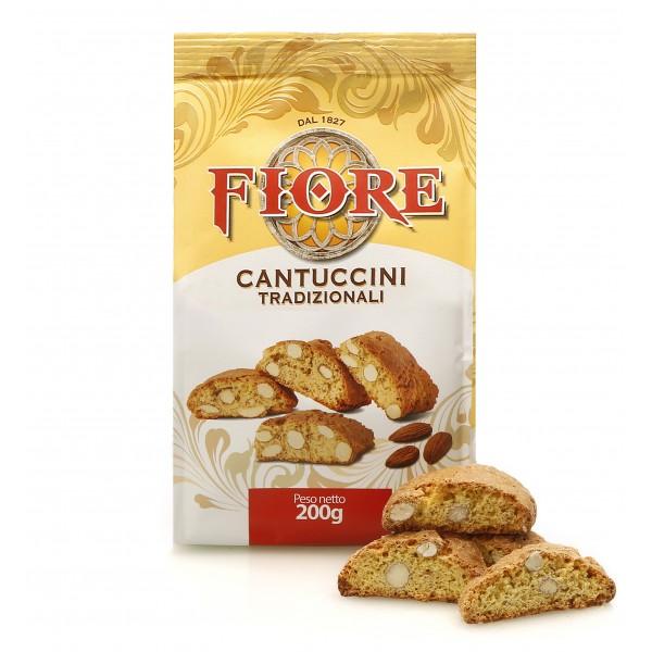 Fiore - Panforte di Siena dal 1827 - Cantuccini Toscani Tradizionali alle Mandorle - Pasticceria - Confezione - 200 g