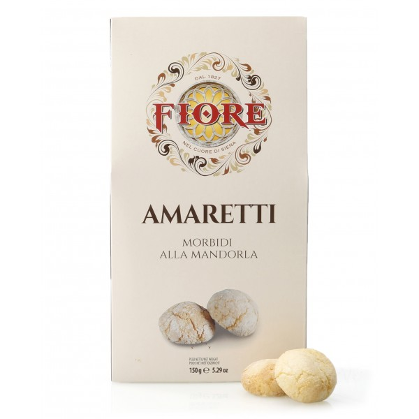Fiore - Panforte of Siena since 1827 - Soft Amaretti with Tuscan Almond - Pastry - Box - 150 g