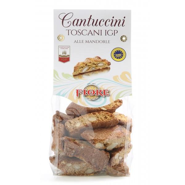 Fiore - Panforte di Siena dal 1827 - Cantuccini Toscani I.G.P. alle Mandorle - Pasticceria - Confezione Cavallotto - 200 g