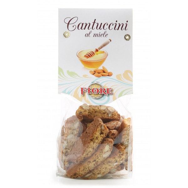Fiore - Panforte of Siena since 1827 - Tuscany Cantuccini with Honey - Pastry - Cavallotto Box - 200 g