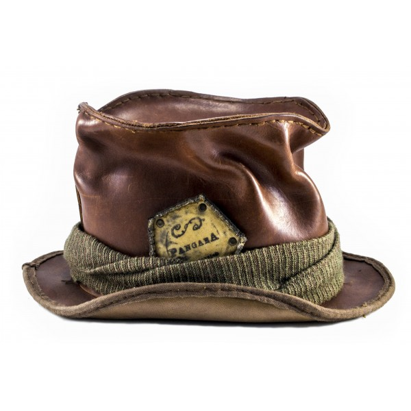 PangaeA - PangaeA Cylindrical Hat - PangaeA Accessories - Artisan Leather Hat
