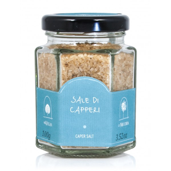 La Nicchia - Capers of Pantelleria since 1949 - Caper Salt - Sea Salt Flavored with Capers - 100 g