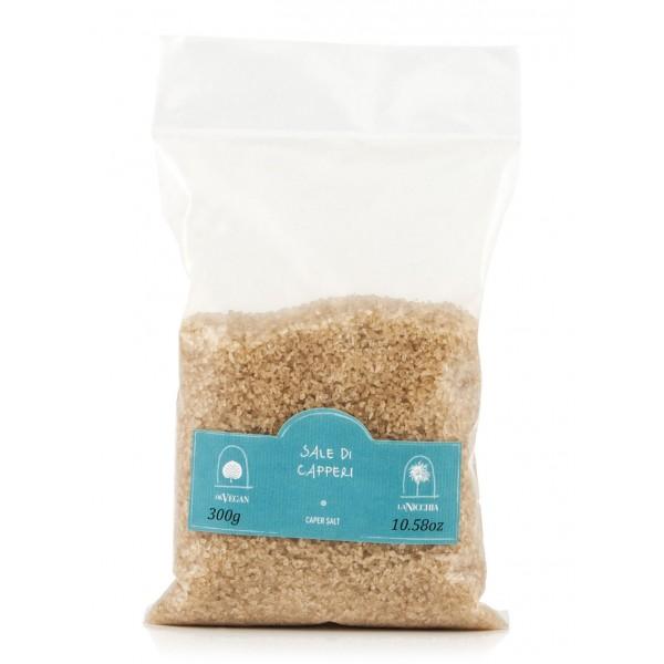 La Nicchia - Capers of Pantelleria since 1949 - Caper Salt - Sea Salt Flavored with Capers - 300 g