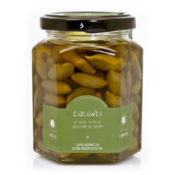 La Nicchia - Capers of Pantelleria since 1949 - Caper Berries in Extra-Virgin Olive Oil - 240 g