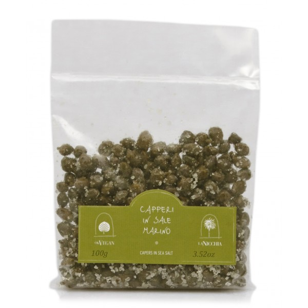 La Nicchia - Capers of Pantelleria since 1949 - Medium Capers in Sea Salt - 100 g