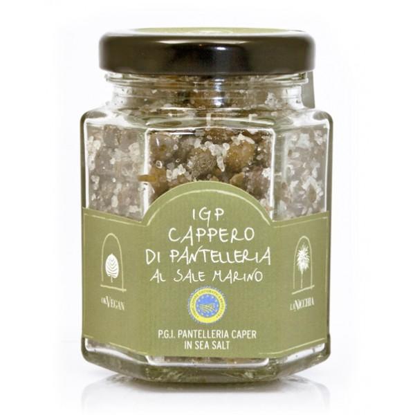 La Nicchia - Capperi di Pantelleria dal 1949 - Capperi I.G.P. di Pantelleria in Sale Marino - 90 g