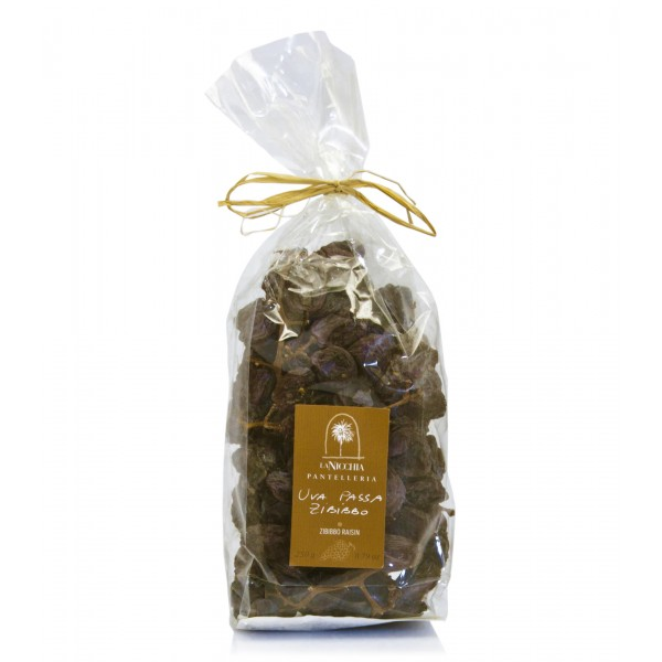 "La Nicchia - Capers of Pantelleria since 1949 - Moscato ""Zibibbo"" Raisins on The Vine - 250 g"
