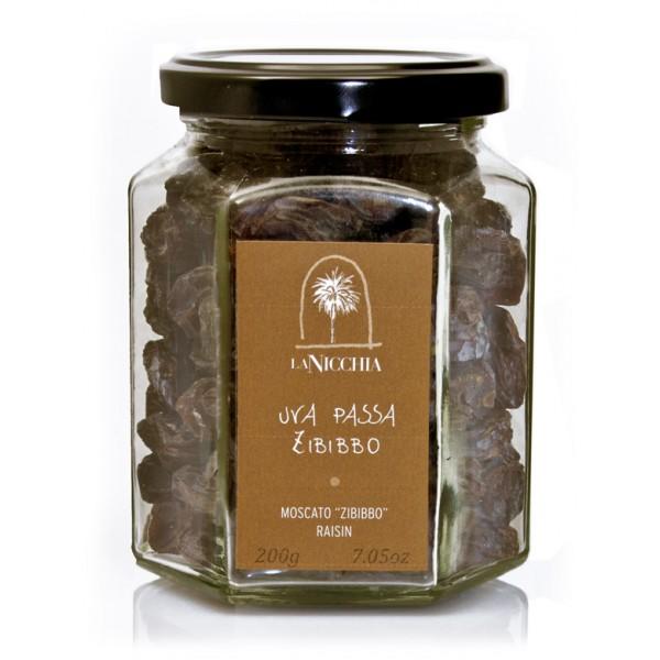 """La Nicchia - Capers of Pantelleria since 1949 - Moscato """"Zibibbo"""" Raisins - 200 g"""