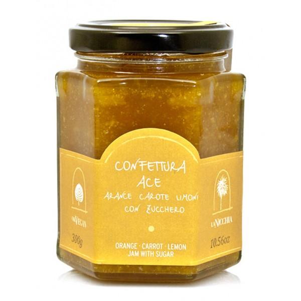 La Nicchia - Capperi di Pantelleria dal 1949 - Confettura ACE - Arance Carote Limoni con Zucchero - 300 g