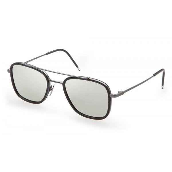super popolare f2813 bf573 Thom Browne - Occhiali da Sole Neri e Grigio Scuro - Thom Browne Eyewear