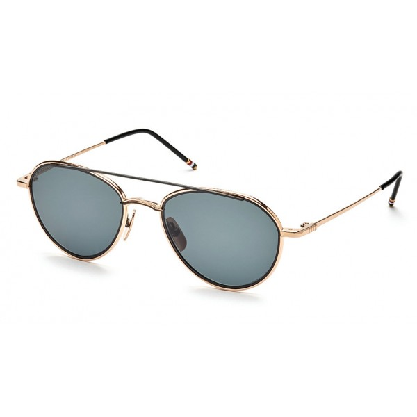 Thom Browne - Black Aviator Sunglasses - Thom Browne Eyewear
