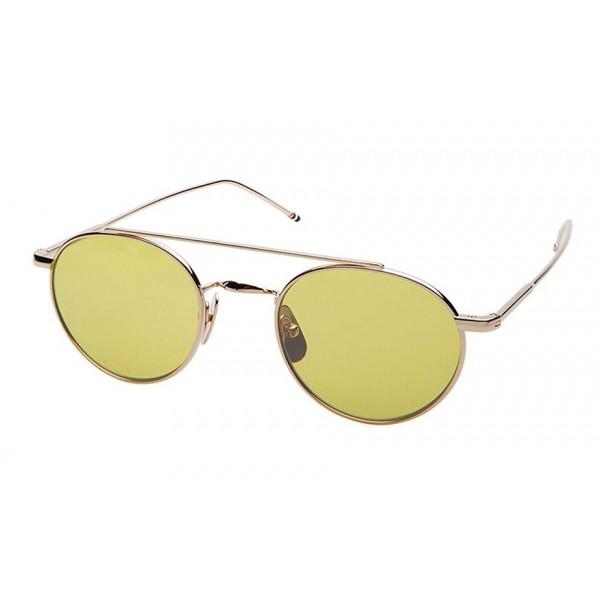 Thom Browne - Occhiali da Sole Brillanti in Oro 12K e Giallo - Oro 12K - Thom Browne Eyewear