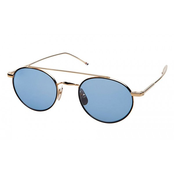negozio online 78213 9033a Thom Browne - Occhiali da Sole in Oro 12K e Acciaio Nero - Oro 12K - Thom  Browne Eyewear