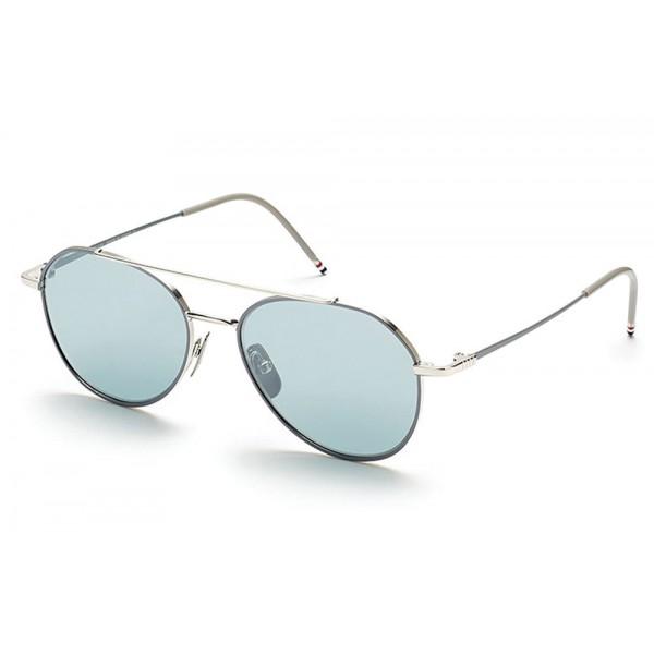 Thom Browne - Occhiali da Sole Argento Aviator - Thom Browne Eyewear