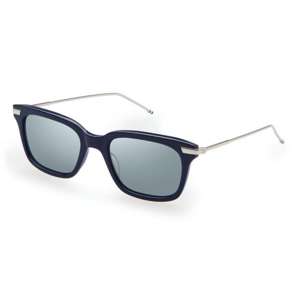 Thom Browne - Navy & Silver Sunglasses - Thom Browne Eyewear