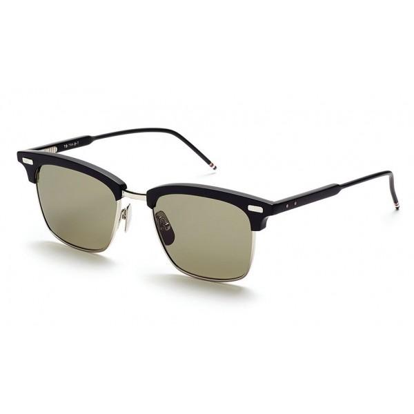 Thom Browne - Occhiali da Sole Nero Opaco e Argento - Thom Browne Eyewear