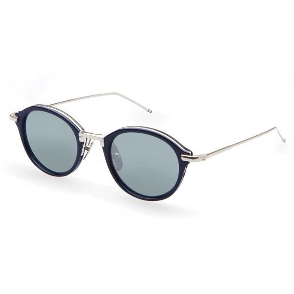 Thom Browne - Occhiali da Sole Navy e Argento - Thom Browne Eyewear
