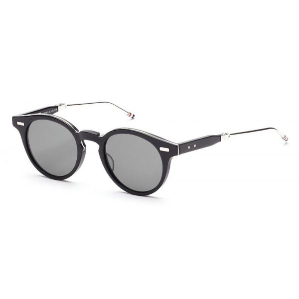 7d80d62c75 Thom Browne - Matte Black   Silver Sunglasses - Thom Browne Eyewear -  Avvenice