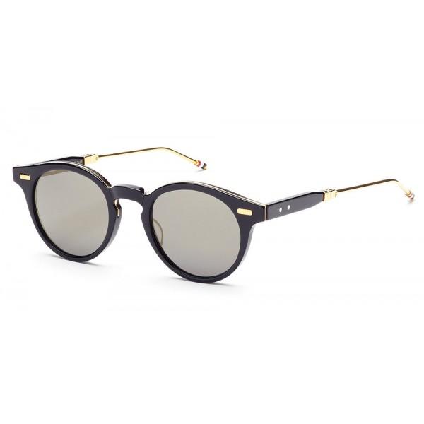 Thom Browne - Occhiali da Sole Blu Scuro, Grigio Scuro e Oro 18K - Thom Browne Eyewear
