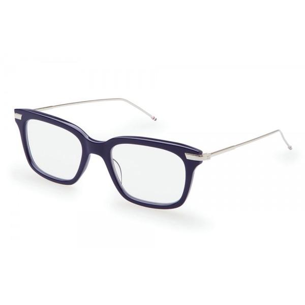 Thom Browne - Occhiali da Vista Blu Scuro e Argento - Thom Browne Eyewear