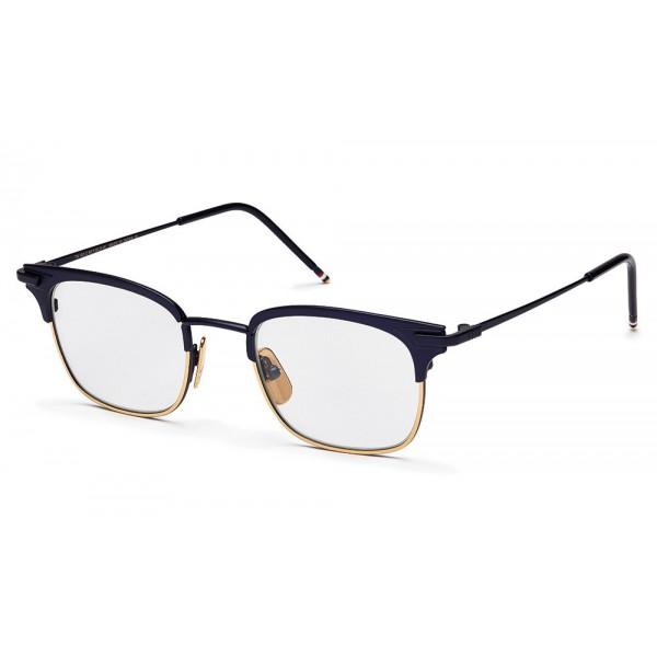 Thom Browne - Occhiali da Vista Navy Opaco e Oro 18K - Thom Browne Eyewear