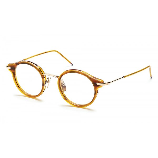 Thom Browne - Walnut & 18K Gold Optical Glasses - Thom Browne Eyewear