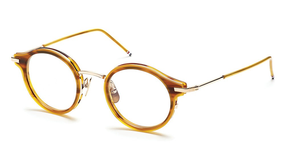 c517df16d Thom Browne - Walnut & 18K Gold Optical Glasses - Thom Browne Eyewear -  Avvenice