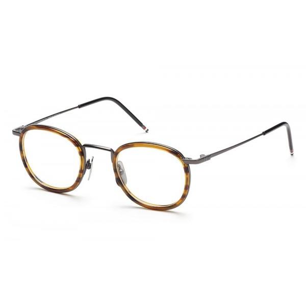 170470c70 Thom Browne - Black Iron Walnut Glasses With Clip-on Sun Lens - Thom Browne  Eyewear - Avvenice