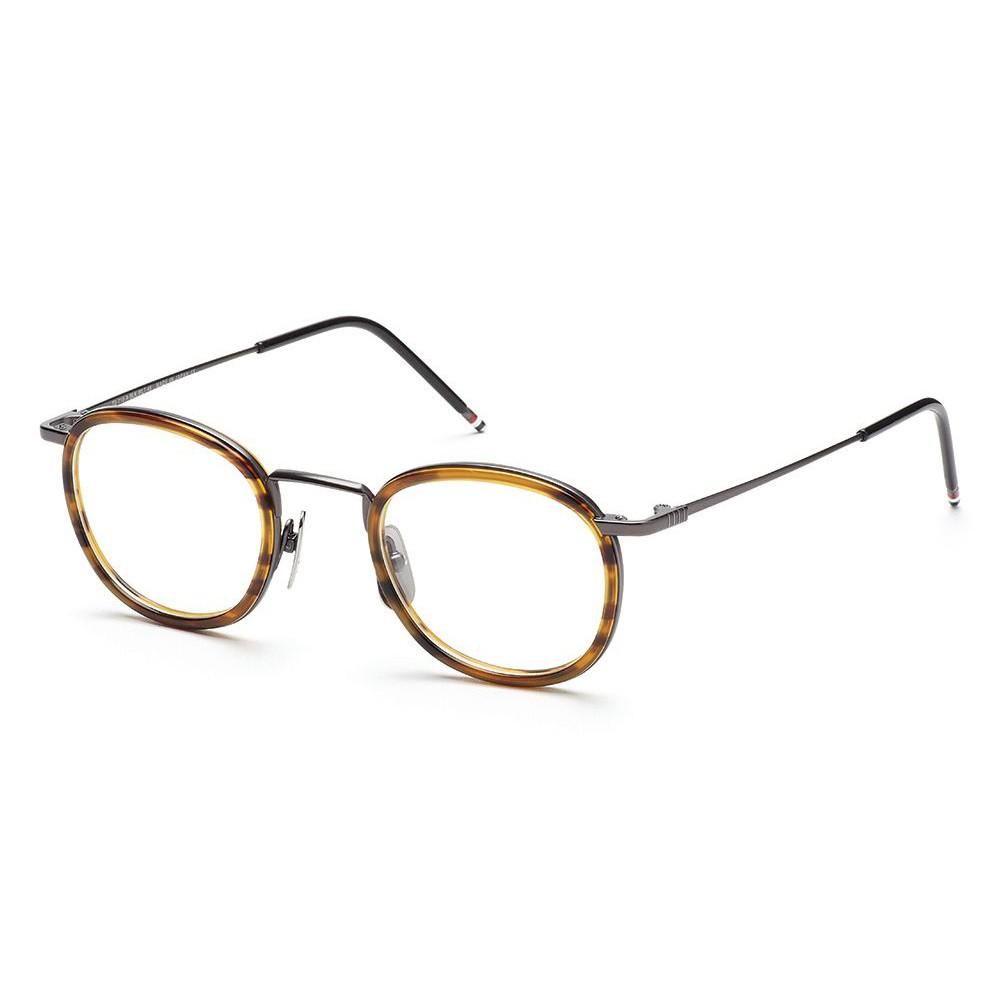 3b576141bebb Thom Browne - Black Iron Walnut Glasses With Clip-on Sun Lens - Thom Browne  Eyewear - Avvenice