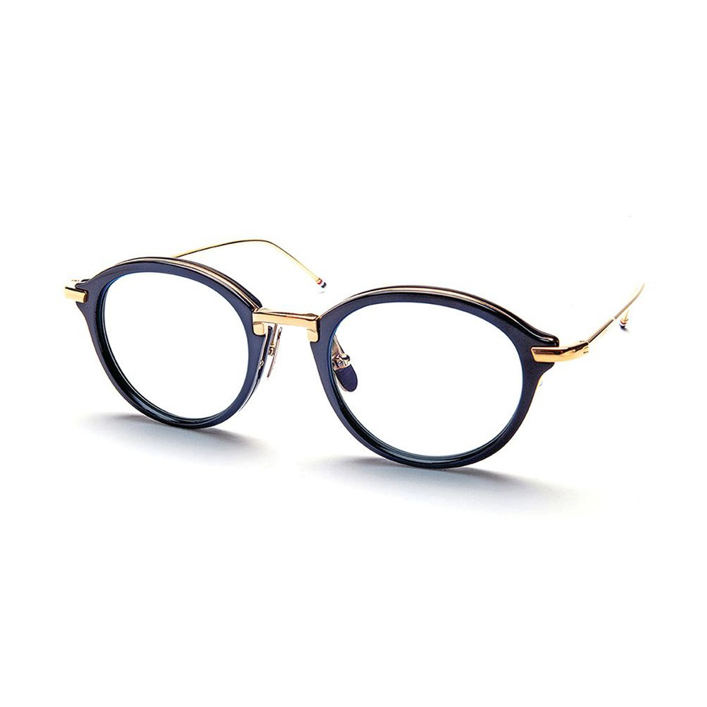 50524ffce5 Thom Browne - Navy and Shiny 18K Gold Optical Glasses - Thom Browne Eyewear  - Avvenice